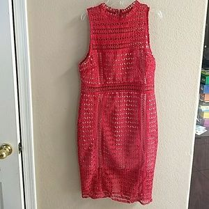 Large lace dress